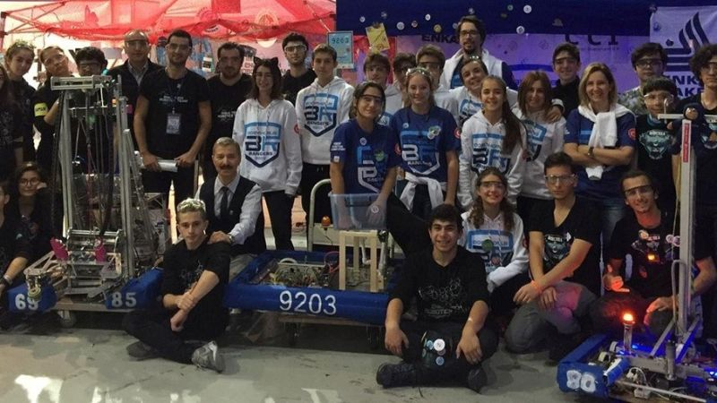 Премия за креативность в конкурсе робототехники FRC