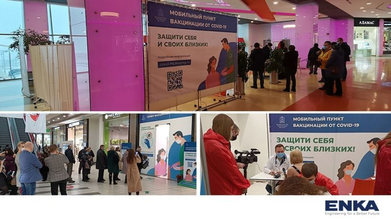 ENKA TC opened the doors of shopping centers to assist to the delivery of COVID-19 vaccines to the local community
