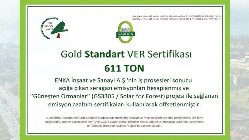 Gold Standard VER Carbon Emissions Certificate
