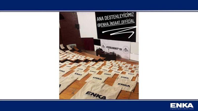 ЭНКА приняла участие в качестве основного спонсора в мероприятии CESummit'19 в METU