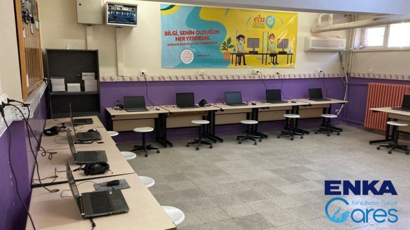 ENKA delivered the computers to Malatya Bakımlı Primary & Middle School