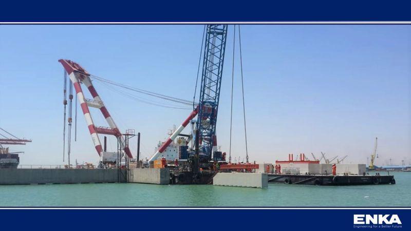 Irak Ulastırma Bakanı ENKA'nın Umm Qasr Basra Çok Amaçlı Terminal Projesini ziyaret etmiştir