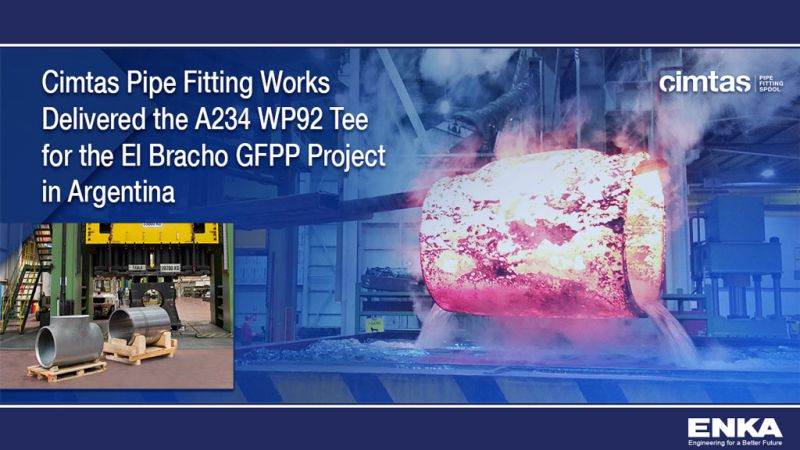 Cimtas Pipe Fitting Works Delivered the A234 WP92 Tee for El Bracho Gas-Fired Power Plant Project in Argentina