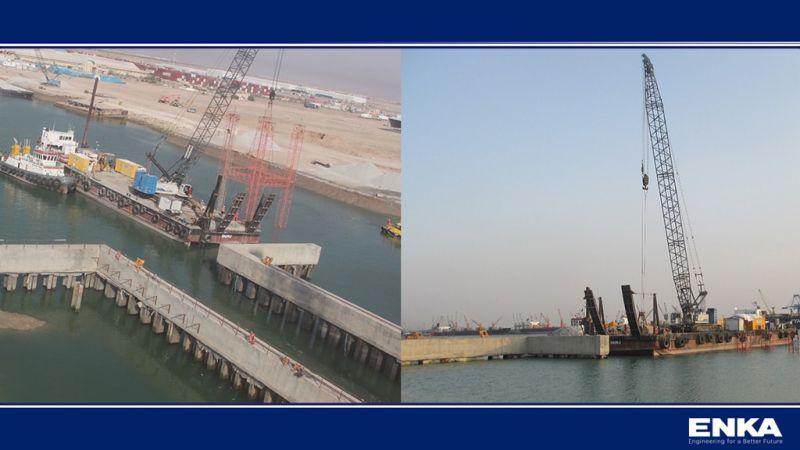 ENKA Umm Qasr Limanı Çok Amaçlı Terminal Projesi Tüm Hızıyla Devam Etmektedir