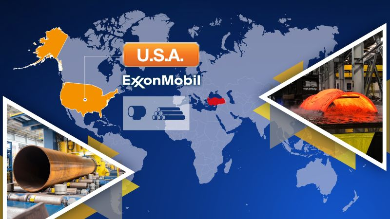 Cimtas Pipe is Now Approved Vendor of Exxon for its Products, Fittings and LSAW Pipes