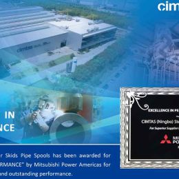 """Cimtas Ningbo received """"Excellence in Performance Award"""" by Mitsubishi Power Americas"""