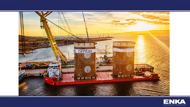 Çimtaş has successfully delivered Steel Shafts to the 1915 Çanakkale Bridge Project