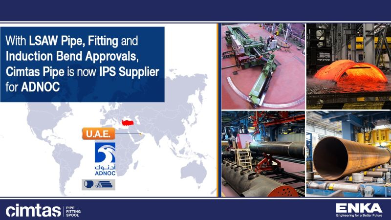Cimtas Pipe is now IPS Supplier for ADNOC