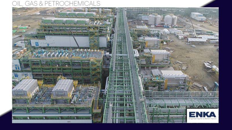 Completion progress of 3GP ME&I Installation works in Tengiz, Kazakhstan reached 25%