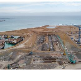 Kasktaş is undertaking diaphragm wall and barrette pile works of West Med Port Project