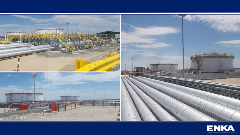 The Crude Shipment Capacity New Tank Farm Project was completed successfully