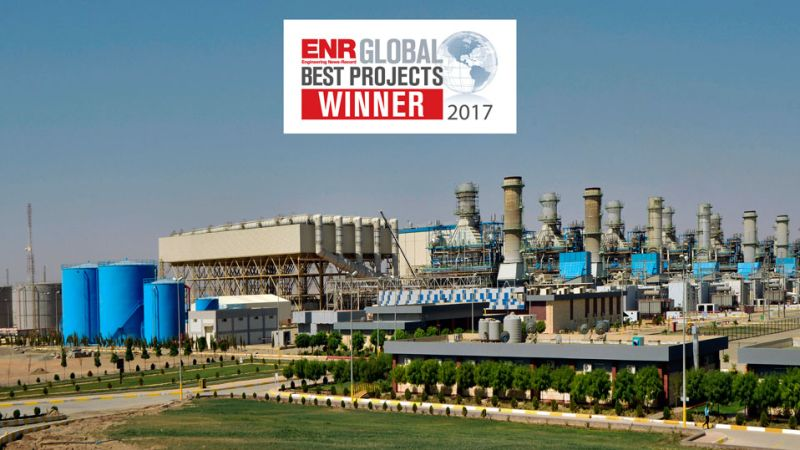 """ENKA's EPC PROJECT RECEIVED THE """"GLOBAL PROJECT OF THE YEAR 2017"""" AWARD by ENR"""