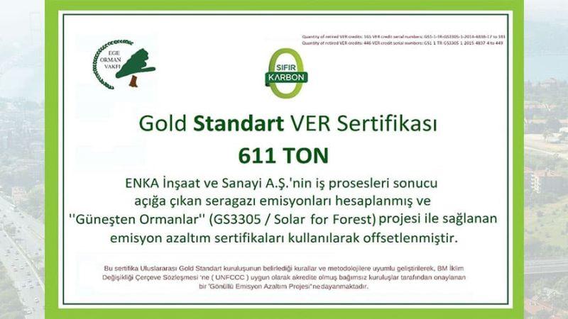 Gold Standard VER Karbon Sertifikası
