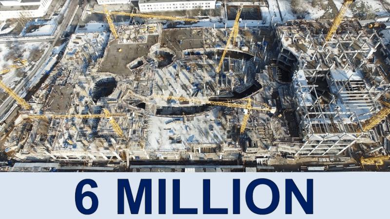 Kashirskaya Multi-Functional Trade Center 6.000.000 man-hours without LTI