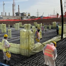 The first structural concrete was poured on Tripoli West 671 MW SCPP